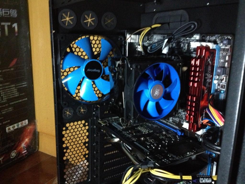 机箱风扇和CPU风扇特写1